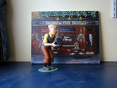 Tintin goes to Brussels
