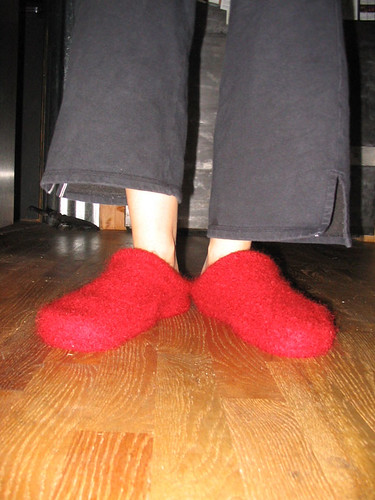 Felted Slippers - Tada!