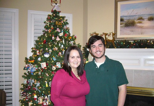 Me and Chris in front of the tree