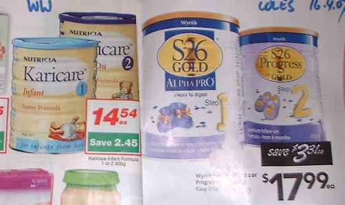 Karicare and S-26 formula discount ads