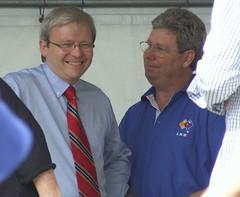 Kevin Rudd and Daniel Oliver - 070507 Labor Day March and Rally, Fortitude Valley and Bowen Hills, Brisbane, Queensland, Australia-232
