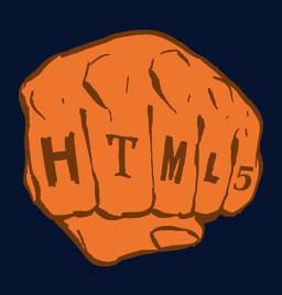 Original Photo from <a href='http://www.alistapart.com/store/tshirt-xhtmlfist'>http://www.alistapart.com/store/tshirt-xhtmlfist</a>