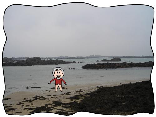 Plage près du Phare de l'Île Vierge