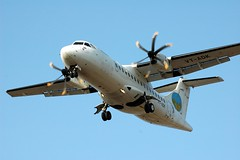 Aterrizaje de un vuelo de Air Deccan