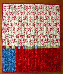strippy doll quilt back