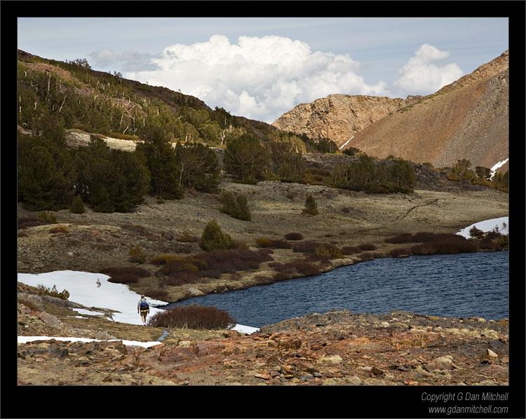 Crossing Mono Pass, Sierra Crest