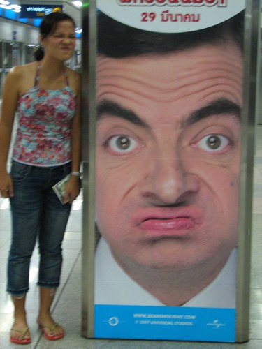mr. bean and me at mrt