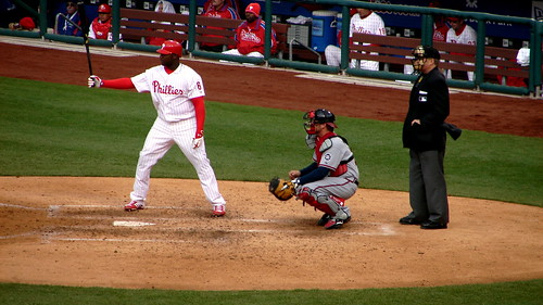 Howard at the plate (ebot/flickr)