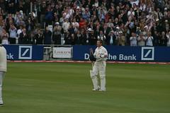 Ian Bell celebrates his century
