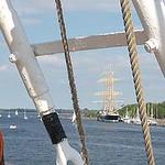 Das russische Segelschulschiff SEDOV am Travemünder Ostpreussenkai