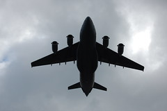 A big plane performs a flyover!!!!