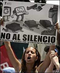Venezueland woman protests