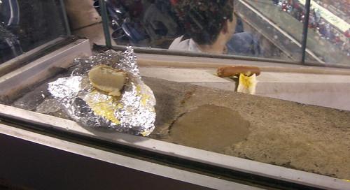 hot dog detritus