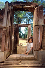 Window girl - Cambodia