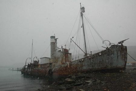 Barco ballenero en Grytviken