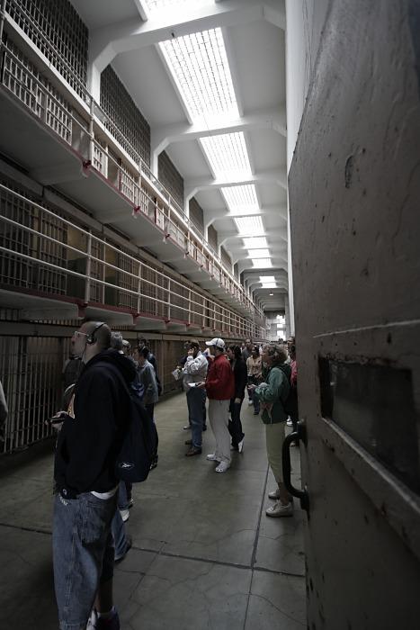 A view on an Alcatraz Street