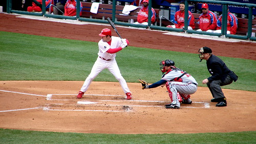 Utley at bat (ebot/flickr)