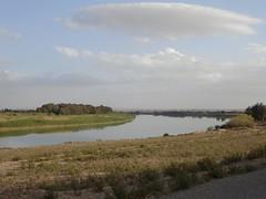 Halabiye. Euphrates At Dusk Time
