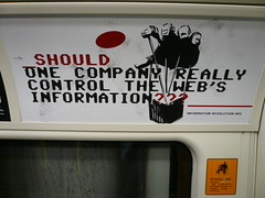 Ask.com anti-Google campaign on the London tube - P1030880