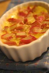 Rhubarb clafoutis