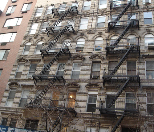 Fire escapes.