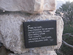 Psalm at Hermits Rest at the Grand Canyon