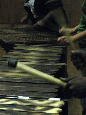 Marimbas. Photo taken by Anna.