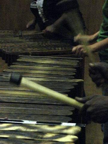 Marimbas. Photo taken by Anna.