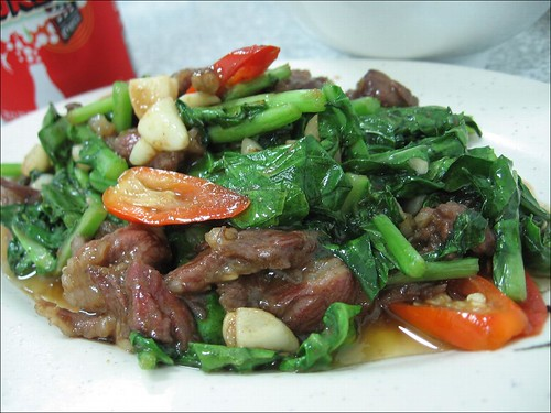 vegetables and beef