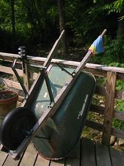 dishcloth on wheelbarrow 1