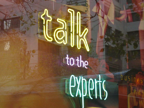 Photo: Talk to the experts by Mai Le, on Flikr