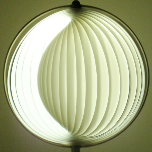 squared circle ~ curl lamp closed by striatic