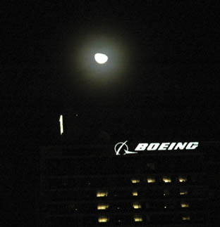 moon over boeing