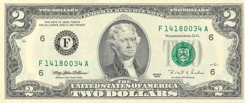 2 dollar bill by orangejack.