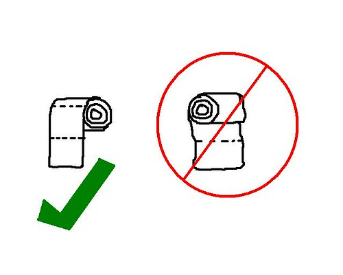 toilet paper diagram