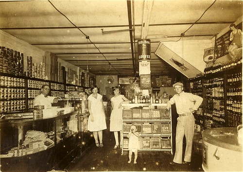 Photo of an old grocery store