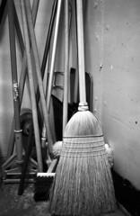 I wonder what's in this broom closet?