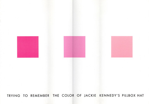 Trying to remember the color of Jackie Kennedy's pillbox hat