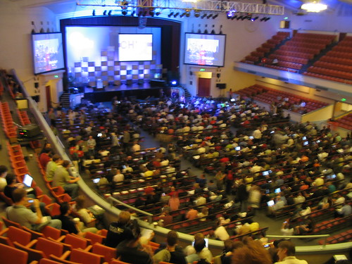 The opening plenary at the San Jose civic auditorium