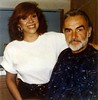 Mom styling Sean Connery's Hair