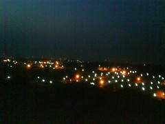 on the hill at night