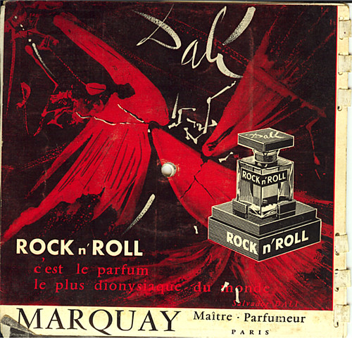 Rock 'n' Roll Perfume Ad by Salvador Dali