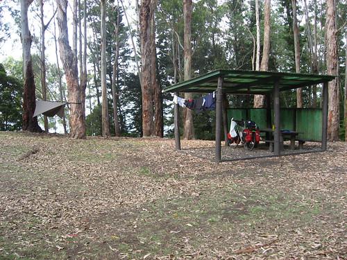 Camp at Peacock Flats