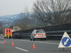 Verkehrsunfall Zürich Autobahnkreuz Nord