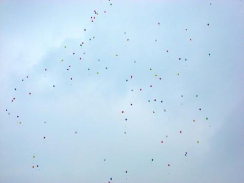 Photo de ballons dans le ciel