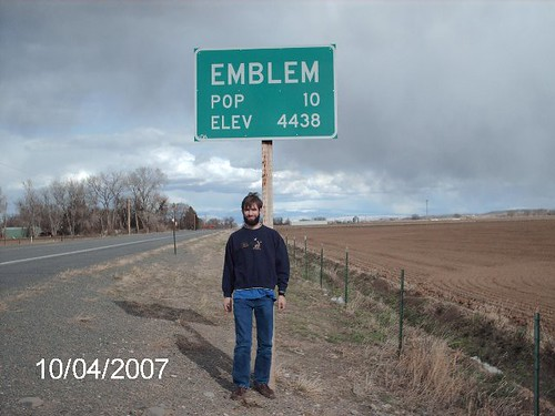 Me at the boarder of Emblem, WY