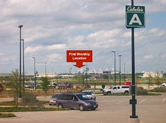 Alliance Texas Cabellas Parking Arrow