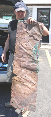 Original sheet of copper from USF New Hampshire