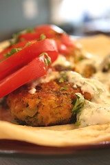Chickpea Fritter wraps 1