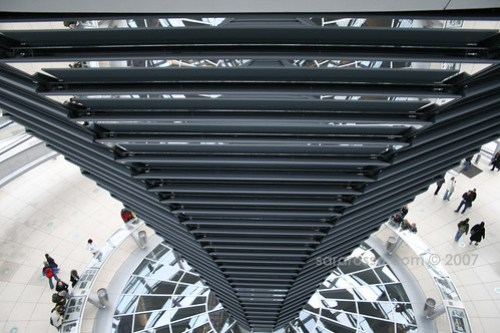 Looking Down in Reichstag